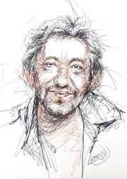 Portrait de Serge Gainsbourg. Paul Lebrun