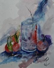 Le verre au trois fruits. Jean-Pierre Lemoine
