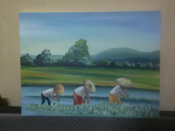 Harvesting rice. Corinne Camille Corinne Camille