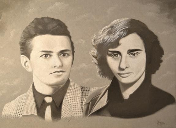 Portrait des parents de francois regis. René Guitton