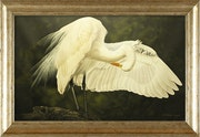 «Winged Knight» Original Oil Painting.