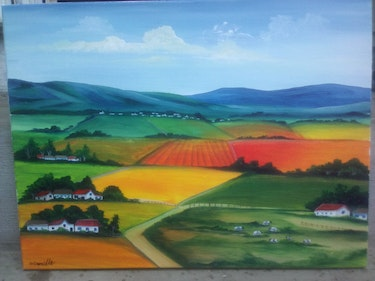 View from the south African farms. Corinne Camille