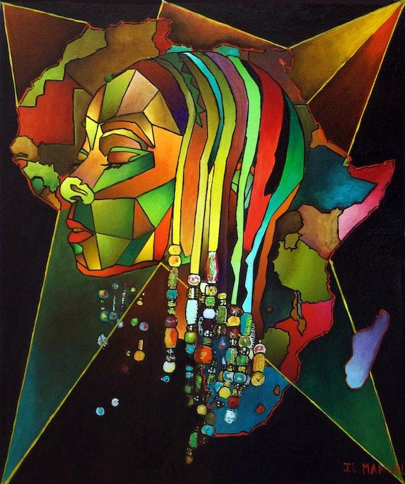 MosAfrïque aux perles. J. L. Manuel Jean-Louis Manuel