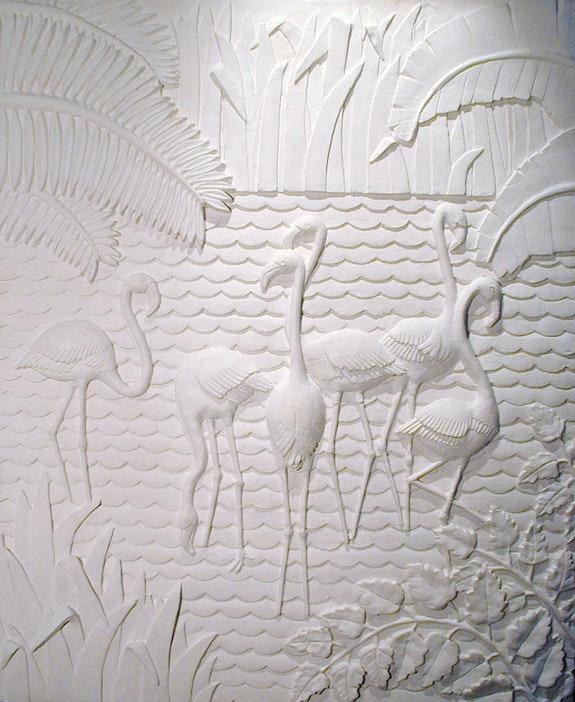 Sculpture murale flamants. Frederique Whittle Frederique Whittle