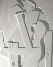Sculpture murale musique cubiste. Frederique Whittle