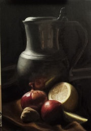 Lemmons and jar.