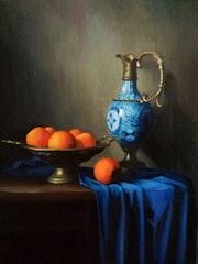 Oranges and porcelain.