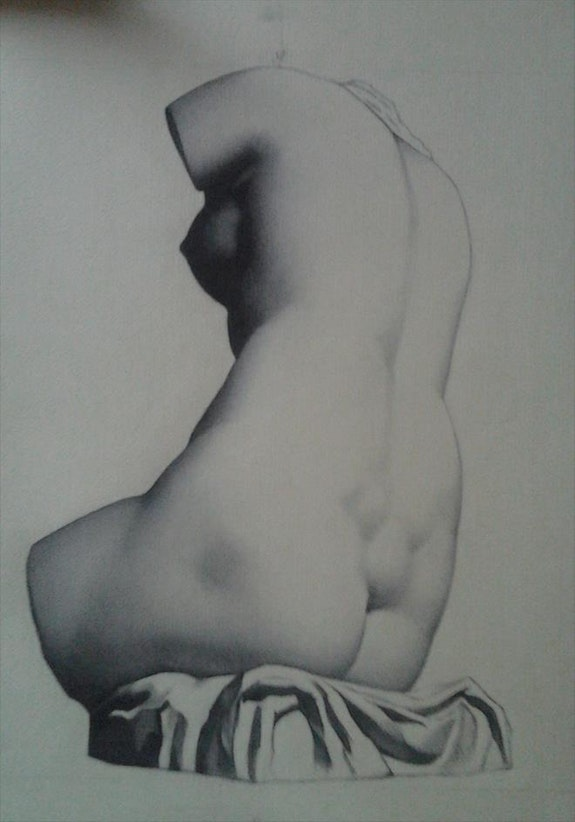 Woman torso. Charles Bargue Jose Manuel Roel Morales