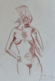 Étude de nue.