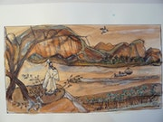 Quiétude (Chine traditionnelle) Paysage bucolique.