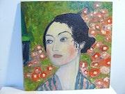 Danseuse d'aprés Gustave Klimt. Jyl