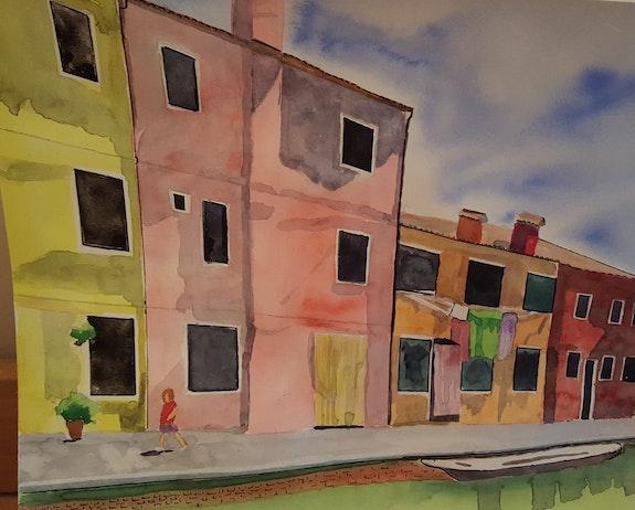 Une rue de Burano. Dominique Frère Dominique Frere