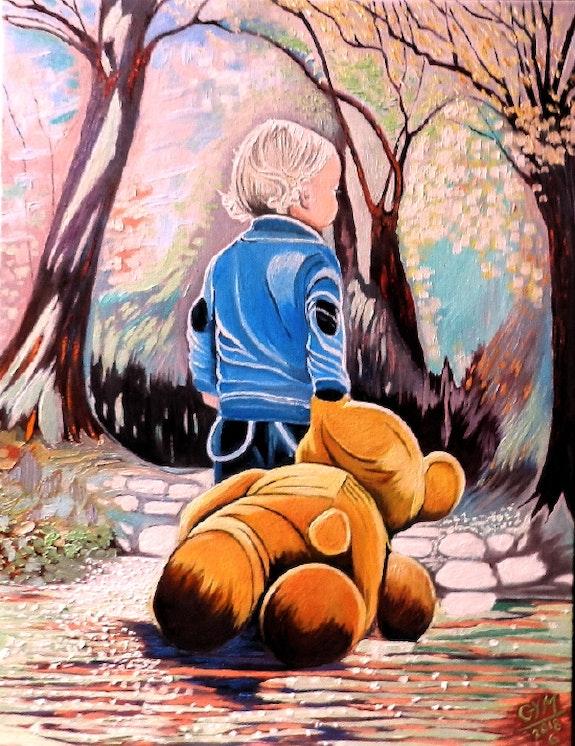Enfant à l'ourson. Gym Gym