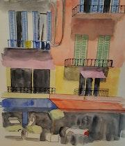 Une rue aux façades colorées de Burano.