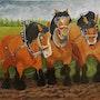 Les chevaux de trait Ardennais. Marie Colin