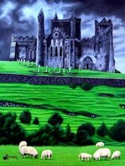 Castillo mediaval al norte de irlanda. Alcazar