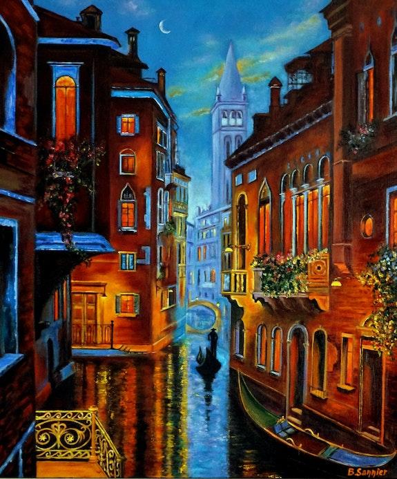 Ballade nocturne à Venise. B. Sannier Bernard Sannier