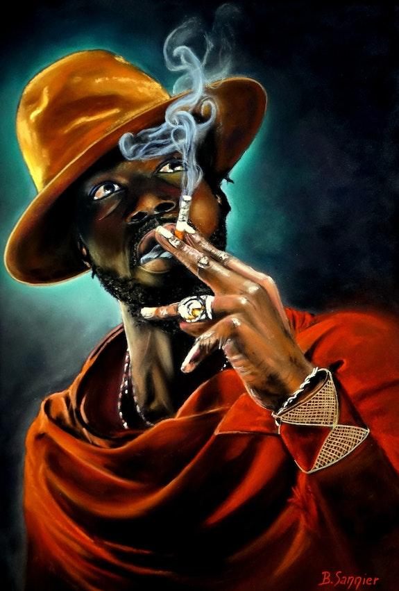 L'homme à la cigarette.. B. Sannier Bernard Sannier