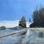 West Coast Trail painting series : low tide island. Graham Coulthard