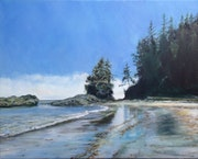 West Coast Trail painting series : low tide island.