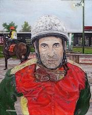 Portrait of a jockey.