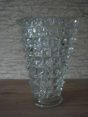 Glasziervase, «Rostrati», Entw. :Ercole Barovier, Ausf. :Ferro Toso Barovier, um 1938.. Glaskunstgalerie Raphael