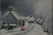 Il était une fois un village en hiver.