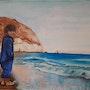 Enfant à la plage d'Aguamarga.
