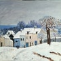 Village sous la neige d'après Sisley. Salsera