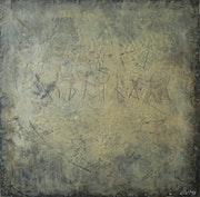 «Runes ii». Encaustic.. Rumen Spasov