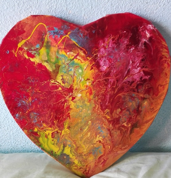 Une autre version de coeur en emoi. Dumlayt Dumlayt