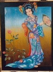 Geisha aux Iris. Lainetmoi