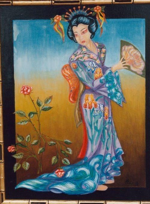 Geisha aux Iris. Edéanita Lainetmoi