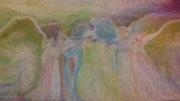Détail de : Au royaume des anges un ange blessé.. Véronique Soriano Mallorquin
