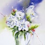 Bouquet blanc. Catherine Rey