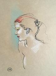Portrait de jeune fille 01. Etienne Bonnet