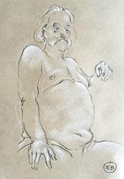 Portrait d'un homme moustachu 01. Etienne Bonnet