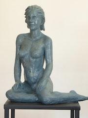 Apolline Statue Sculpture terre cuite Art du Nu Design couleur bronze Actives. Dem'art