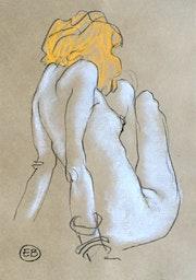 Femme assise aux bracelets 01. Etienne Bonnet