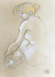 Portrait d'une jeune fille un peu ronde. Etienne Bonnet