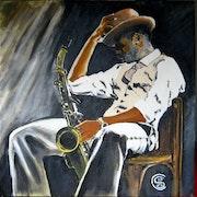 Jazz noir et saxo n0332 02/2018.