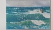 Tempête en mer d'iroise.