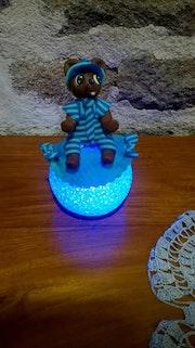 Petit ours bleu.