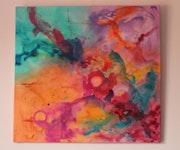 Folie encadrée - peinture abstraite.