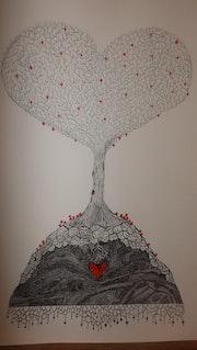 L'arbre à coeurs.