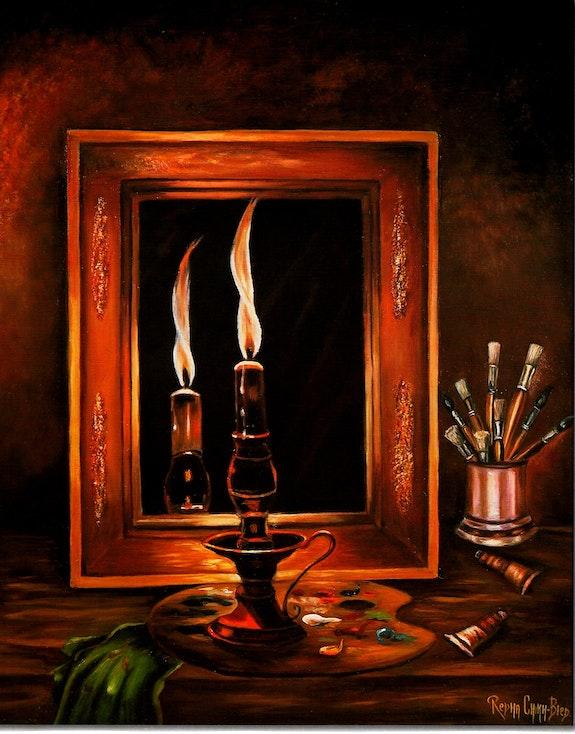 Brûle Chandelle (Auto portrait). Redha Chikh Bled Redha