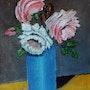 Vase de rose. Andre Blanc
