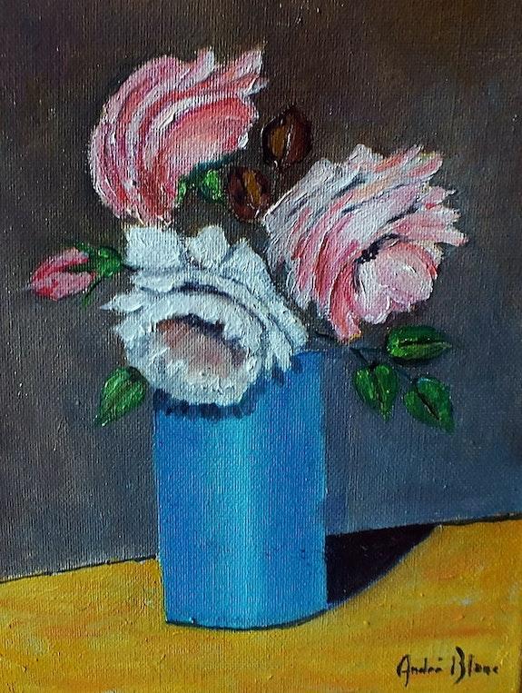 Vase de rose. André Blanc Andre Blanc