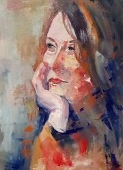 Portrait d'une Femme aux manifiques cheveux.