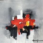 Abstraction rouge et noir.